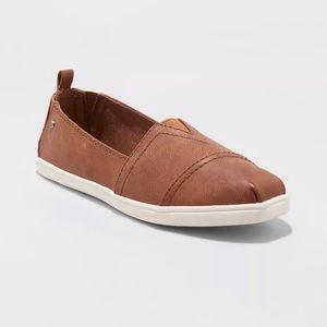 Mad Love Cognac slip on shoes NWT